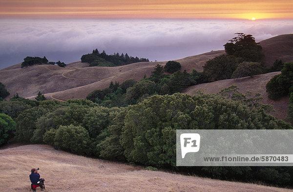 Vereinigte Staaten von Amerika USA arbeiten Fotograf Zimmer Golden Gate Bridge Kalifornien Entspannung