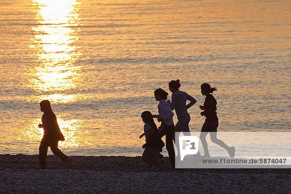 Strand rennen Jogger Mittelmeer Türkei lykischen Küste Strand,rennen,Jogger,Mittelmeer,Türkei,lykischen Küste