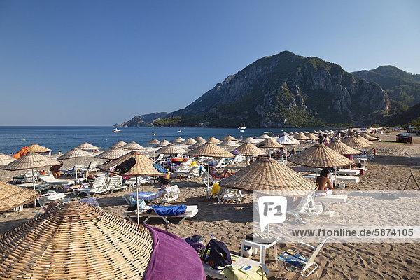 Stuhl Strand Schatten Mittelmeer Türkei lykischen Küste Stuhl,Strand,Schatten,Mittelmeer,Türkei,lykischen Küste