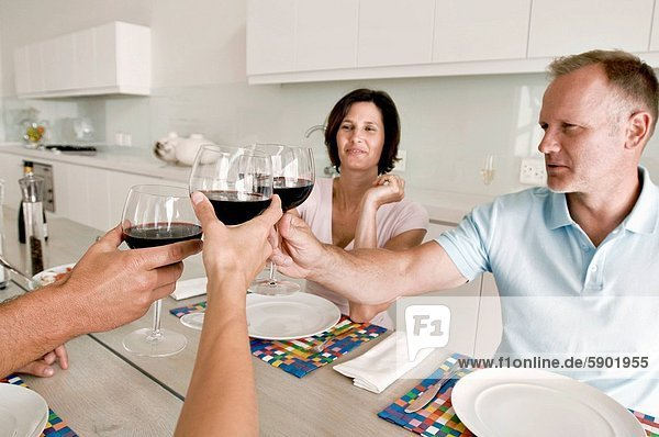 Freundschaft Wein reifer Erwachsene reife Erwachsene