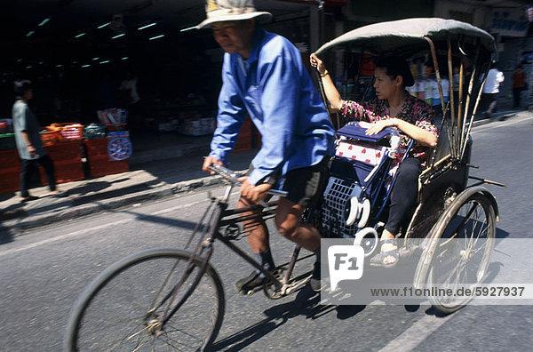 Fahrradrikscha  Frau  Reise  Mittelpunkt  Erwachsener  Thailand