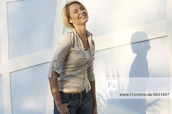 Portrait of a mid adult woman smiling. Portrait of a mid adult woman smiling