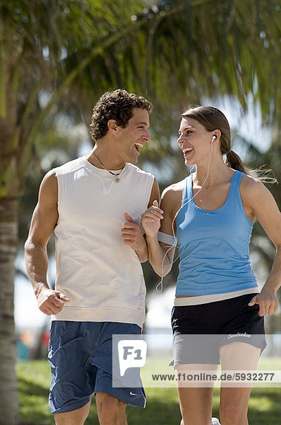 Young couple jogging. Young couple jogging