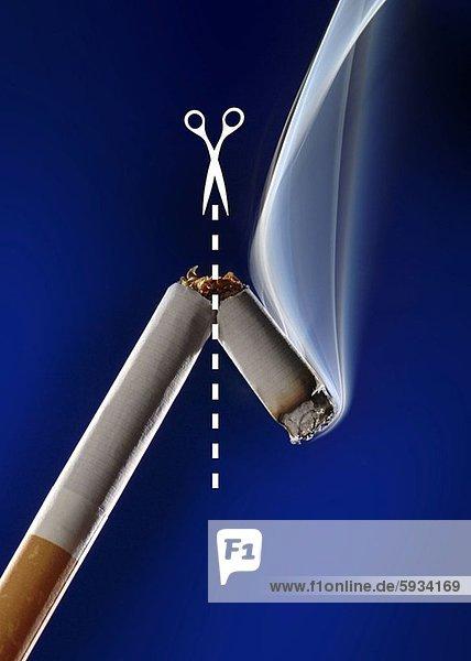 Schere  Zigarette  Paar  Paare  Close-up  close-ups  close up  close ups  Punkt  zerbrochen  Linie