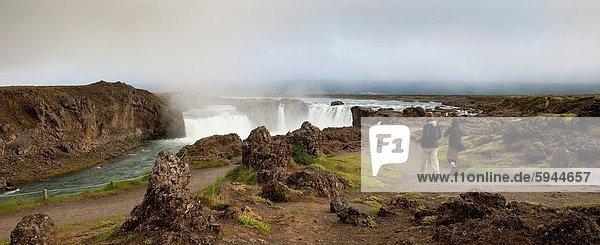 Godafoss Waterfall  Northern Iceland