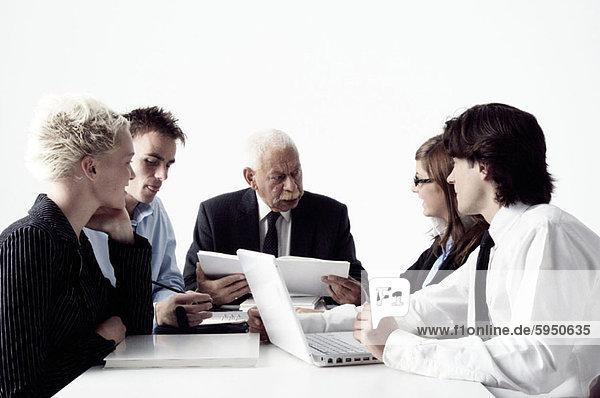 Geschäftsfrau  Geschäftsmann  Besuch  Treffen  trifft  2  3