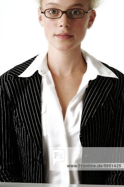 Portrait  Geschäftsfrau  Brille  Paar  Paare  Kleidung