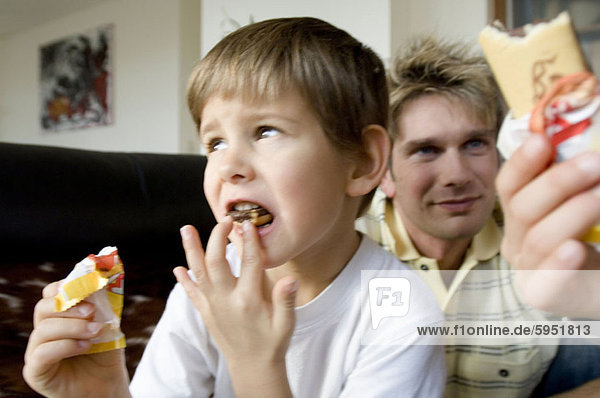 Close-up of a boy eating an ice-cream. Close-up of a boy eating an ice-cream