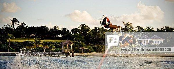 Wakeboarding in Antigua  West Indies  Karibik  Mittelamerika