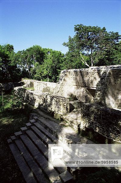 Struktur 1  Cahal Pech  Belize  Mittelamerika