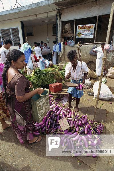Gemüse Stand  Hauptmarkt Bereich  Kandy  Sri Lanka  Asien