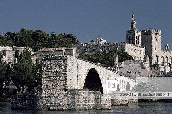 Le Pont d ' Avignon  Avignon  Vaucluse  Provence  Frankreich  Europa