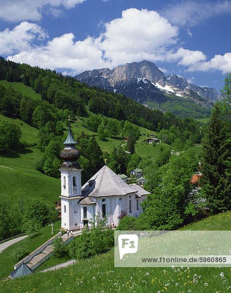 The onion dome church at Maria Gern  Austria  Europe