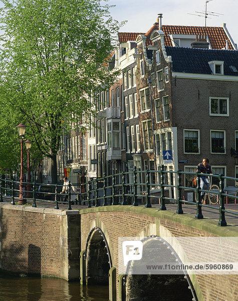 The Seven Bridges in Amsterdam  Holland  Europe