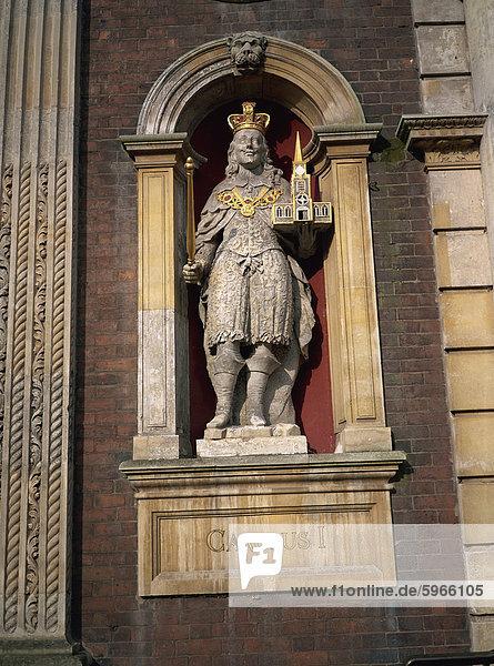 Charles ich Statue  Guildhall  Worcester  England  Vereinigtes Königreich  Europa