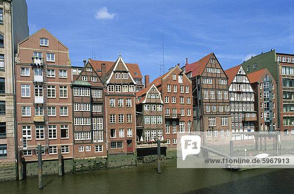 Fassaden am Deichstrabe  Hamburg  Deutschland  Europa