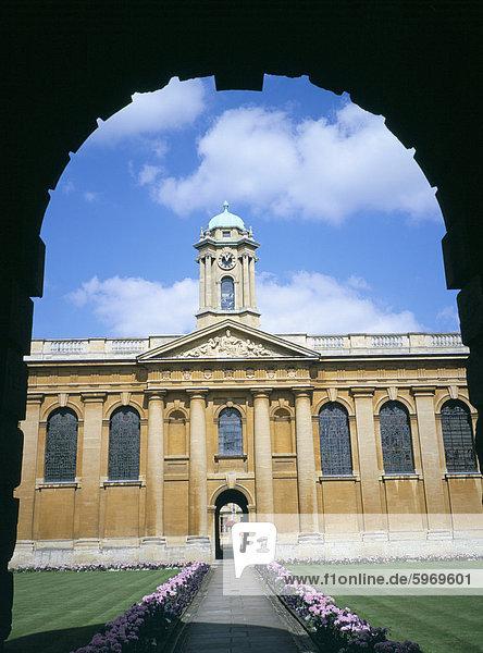 Queens College  Oxford  Oxfordshire  England  Vereinigtes Königreich  Europa