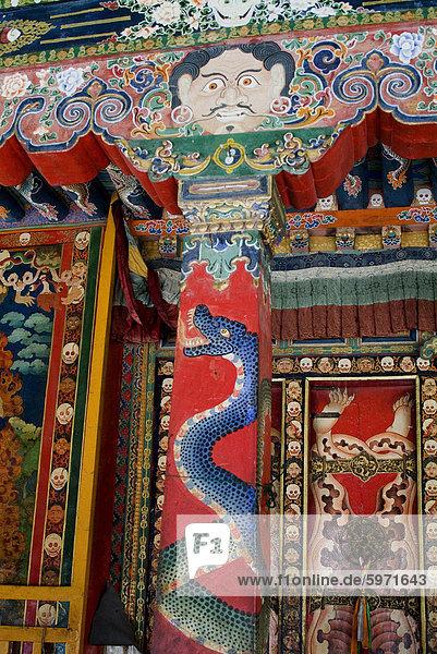 Detail  Nechung Monastery  Lhasa  Tibet  China  Asia