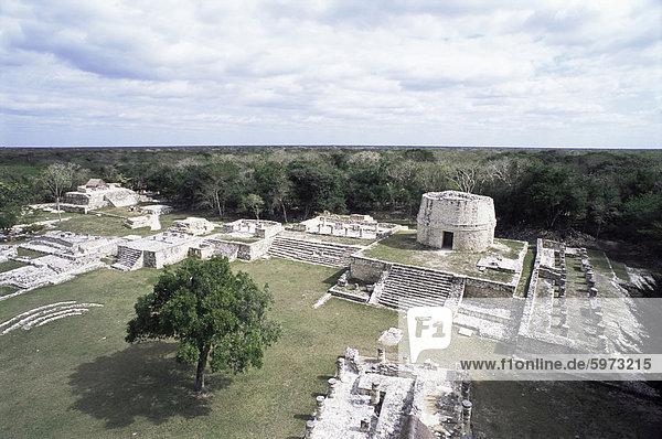 Ehemalige Maya Hauptstadt nach dem Fall von Chichen-Itza  Mayapán  Yucatan  Mexiko  Nordamerika