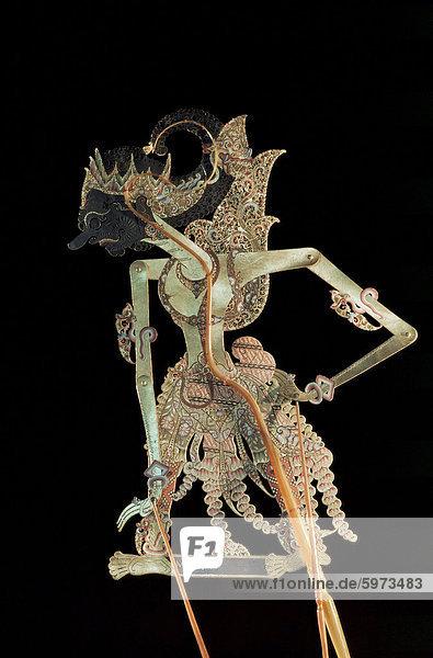 Schatten Marionette (Wayang Kulit)  Java  Indonesien  Südostasien  Asien
