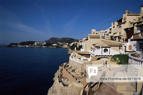 Cala Fornels  Palma  Majorca  Balearic Islands  Spain  Mediterranean  Europe