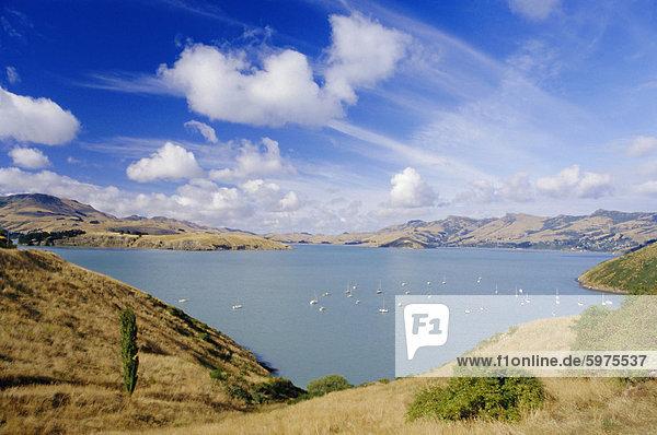Cass-Bucht nahe Lyttelton  Banks Peninsula  Canterbury  Südinsel  Neuseeland  Pazifik