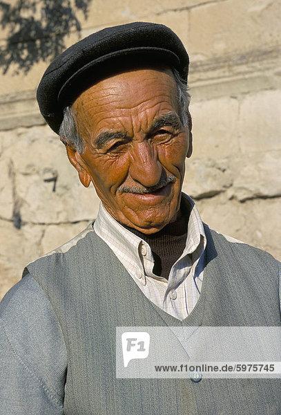 Porträt eines alten Mannes  Cappadocia  Anatolien  Türkei  Kleinasien  Asien