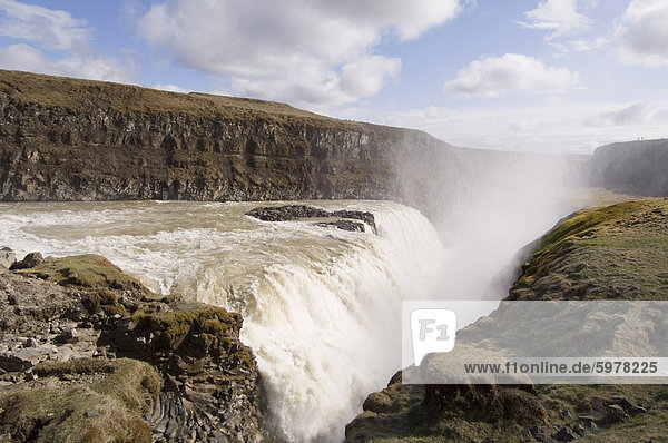 Gullfoss waterfalls  Iceland  Polar Regions