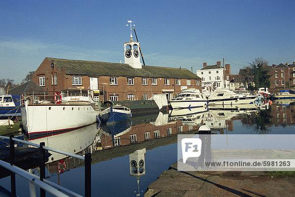 Kanal-Becken  Stourport am Severn  Worcestershire  England  Vereinigtes Königreich  Europa