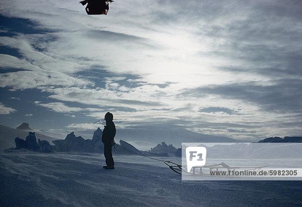 S. Otway schleppen Schlitten  Antarktis  Polarregionen