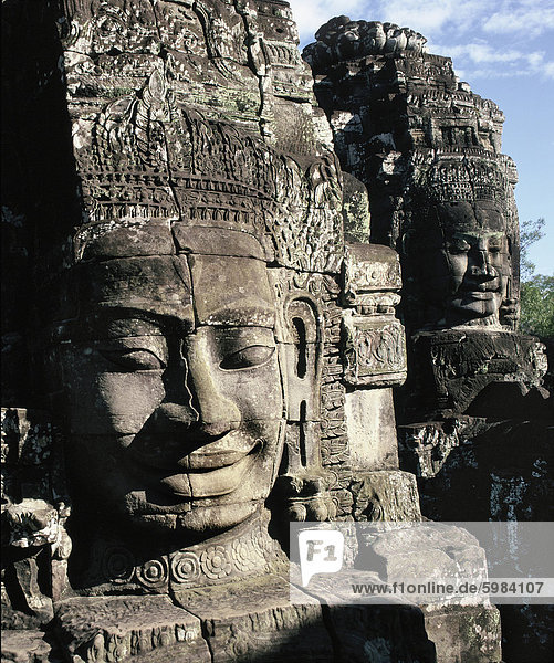 Bayon  built in the late 12th and 13th centuries  Angkor Thom  Angkor  UNESCO World Heritage Site  Cambodia  Indochina  Southeast Asia  Asia