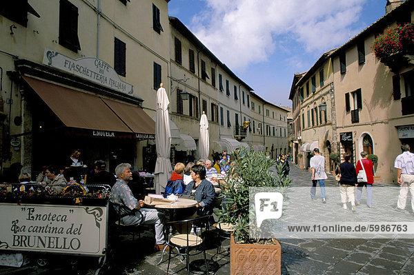 Cafe  Montalcino  Toskana  Italien  Europa
