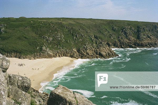 Porthcurno Cove  Cornwall  England  Vereinigtes Königreich  Europa