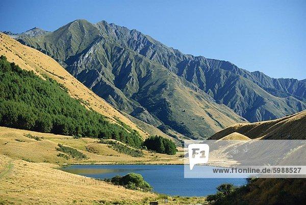 Moke Lake in der Nähe von Queenstown in szenischen Bereich im Westen Otago  Südinsel  Neuseeland  Pazifik