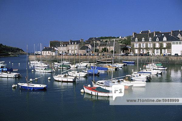 Le Val-Andre  Hafen  Costa Smeralda  Cotes d ' Amor  Bretagne  Frankreich  Europa