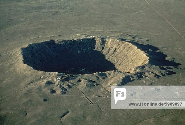 Barringer-Krater  der größte bekannt in der Welt  Arizona  Vereinigte Staaten  Nordamerika