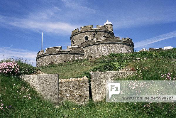 St. Mawes Castle  Cornwall  England  Vereinigtes Königreich  Europa