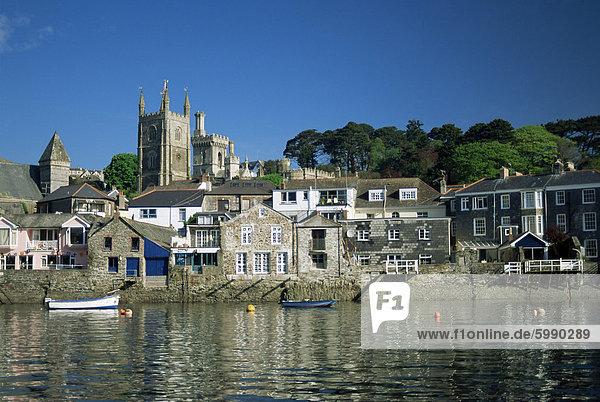 Uferviertel  Fowey  Cornwall  England  Vereinigtes Königreich  Europa