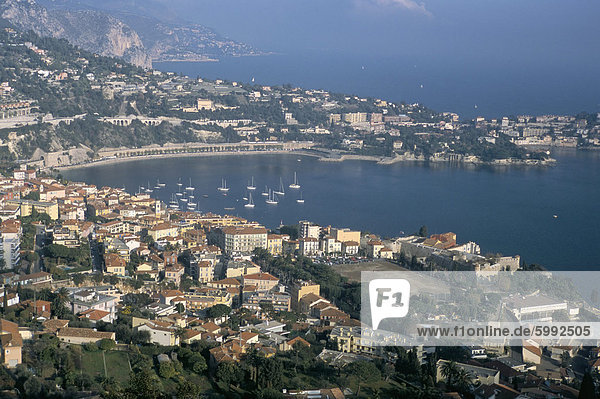 Frankreich Europa über Mütze Ansicht Provence - Alpes-Cote d Azur Alpes-Maritimes