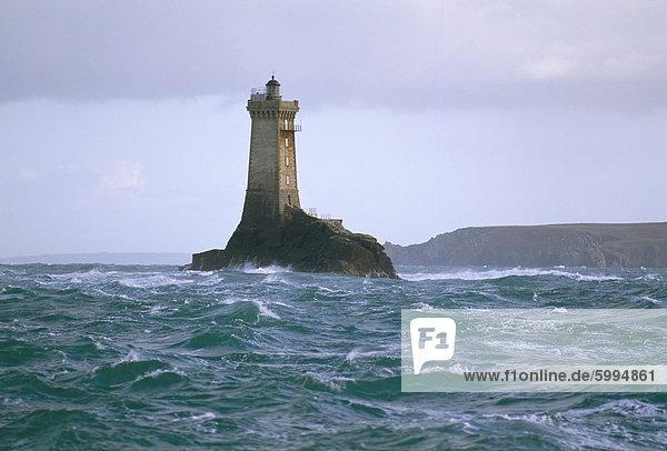 Phare De La Vieille (Leuchtturm)  Raz de Sein  Finistere  Bretagne  Frankreich  Europa