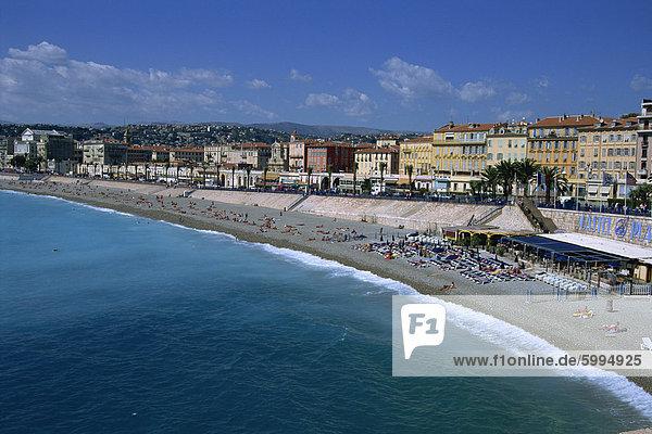 Frankreich Europa Strand Freundlichkeit Provence - Alpes-Cote d Azur Cote d Azur