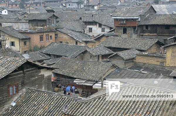 Traditional housing  Gejiu  Monghe  Yunnan  China  Asia