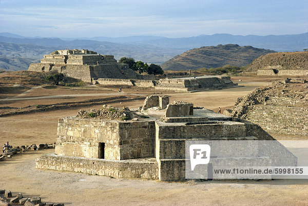 Observatory and System 4 at Monte Alban  200 BC to 800 AD  UNESCO World Heritage Site  Oaxaca state  Mexico  North America