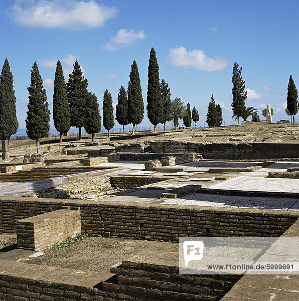 Roman Italica  dating back to 206 BC  birthplace of Trajan  Hadrian and Theodosius  Seville  Andalucia  Spain  Europe