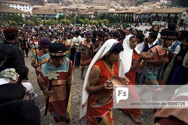 Inti Raymi Festival  Cuzco  Peru  Südamerika