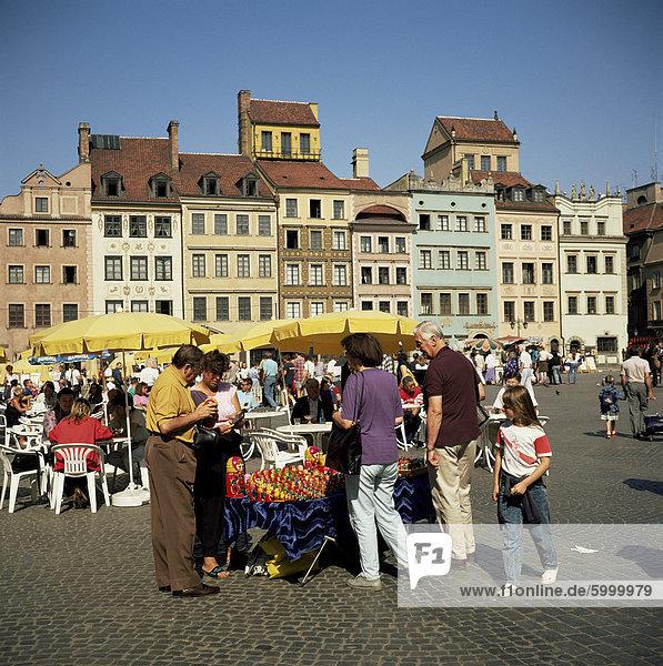 Holzpuppen für Verkauf  Altstädter Ring  Warschau  Polen  Europa