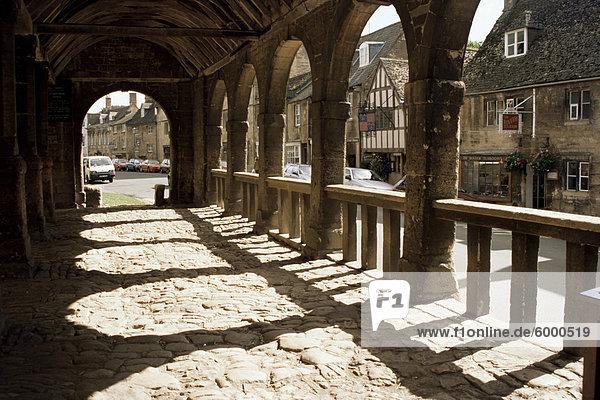 Markthalle  Chipping Campden  Gloucestershire  die Cotswolds  England  Vereinigtes Königreich  Europa