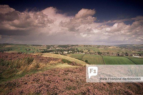 Landschaft in der Nähe von Haworth  Yorkshire  England  Vereinigtes Königreich  Europa