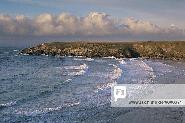 Holywell Bay  in der Nähe von Newquay  Cornwall  England  Großbritannien  Europa