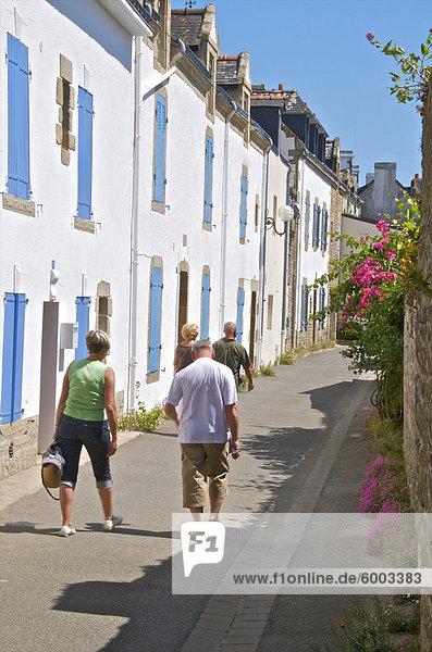Frankreich Europa Gebäude Straße Tourist typisch Bretagne Morbihan